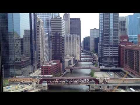 Chicago -  Beautiful Downtown View from Holiday Inn Hotel - Tourism USA