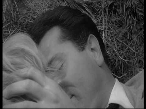 MONICA VITTI AND GABRIELE FERZETTI KISSING IN ''L'AVVENTURA''