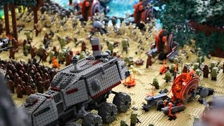 The Battle of Kashyyyk in LEGO (4K Quality)