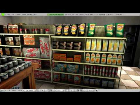 Blender Game Engine - King Grocery Market