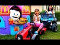Esma and Asya Pretend play toy cars  shopping for kids video mp3 indir
