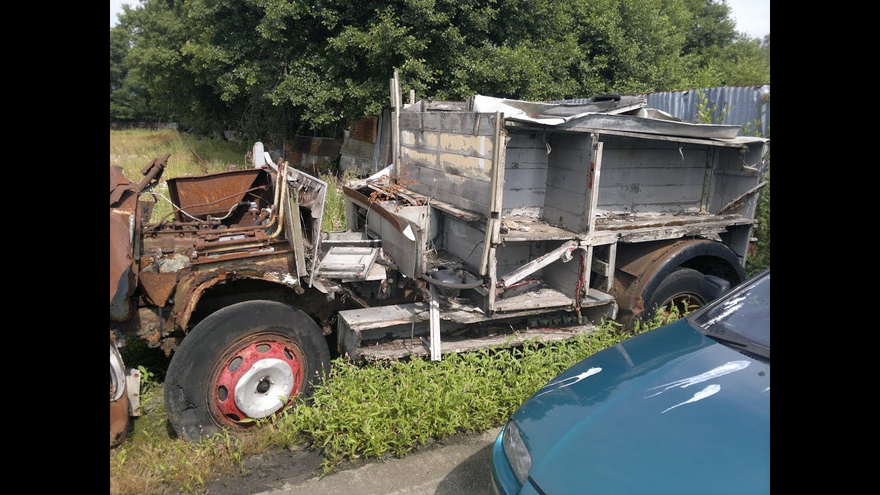 Dennis F8 Old Fire Engine Truck Abandoned In Scrap Yard