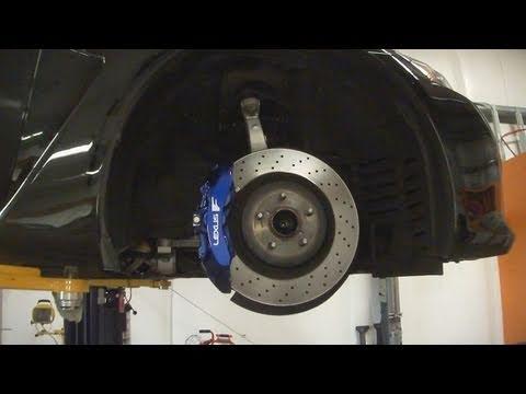 2011 Lexus ISF 6 Piston Brakes Painted F Blue, Custom Logo ...