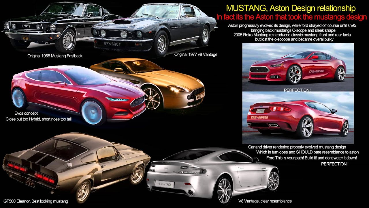 2015 ford mustang vs aston v8 vantage youtube