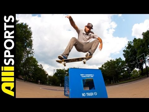 Anthony Shetler Skate Trick Tip Switch Ollie, Step by Step Alli Sports