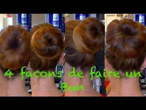 4 fa ons de faire un chignon bun simplement the beauty - Faire un chignon ...