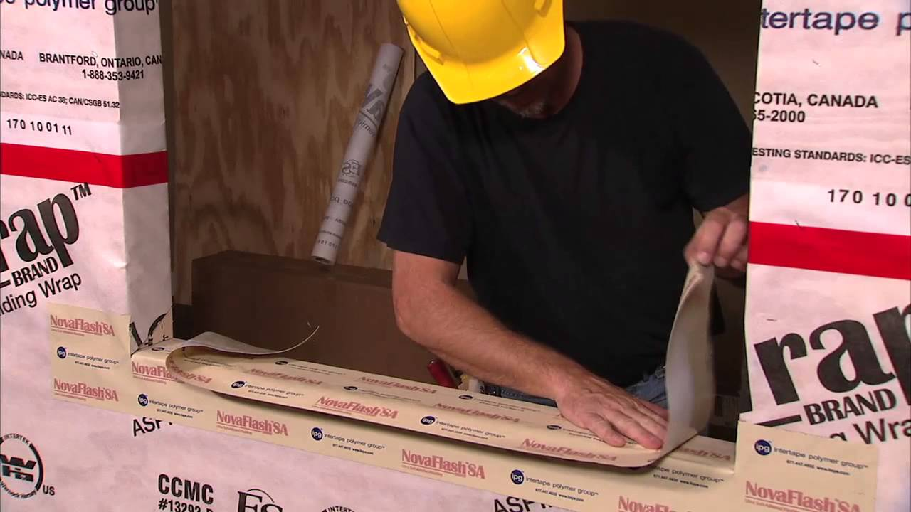 How To Install House Wrap Window Flashing Youtube