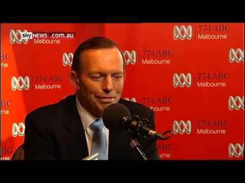 21/05/14 Abbott winking and smirking at radio host during distressed talkback caller question.