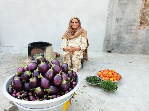 VEG! BRINJAL Recipe Prepared by My Granny | baingan curry | baingan masala recipe | veg village food