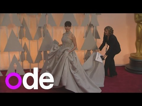 Oscars: Theory of Everything's Felicity Jones rocks huge gown on red carpet