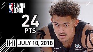 Trae Young SICK Full Highlights vs Bulls (2018.07.10) Summer League - 24 Pts, 7 Threes!