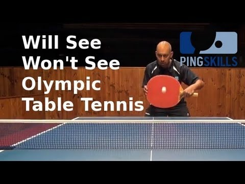 Will See Won't See Olympic Table Tennis - Invade London