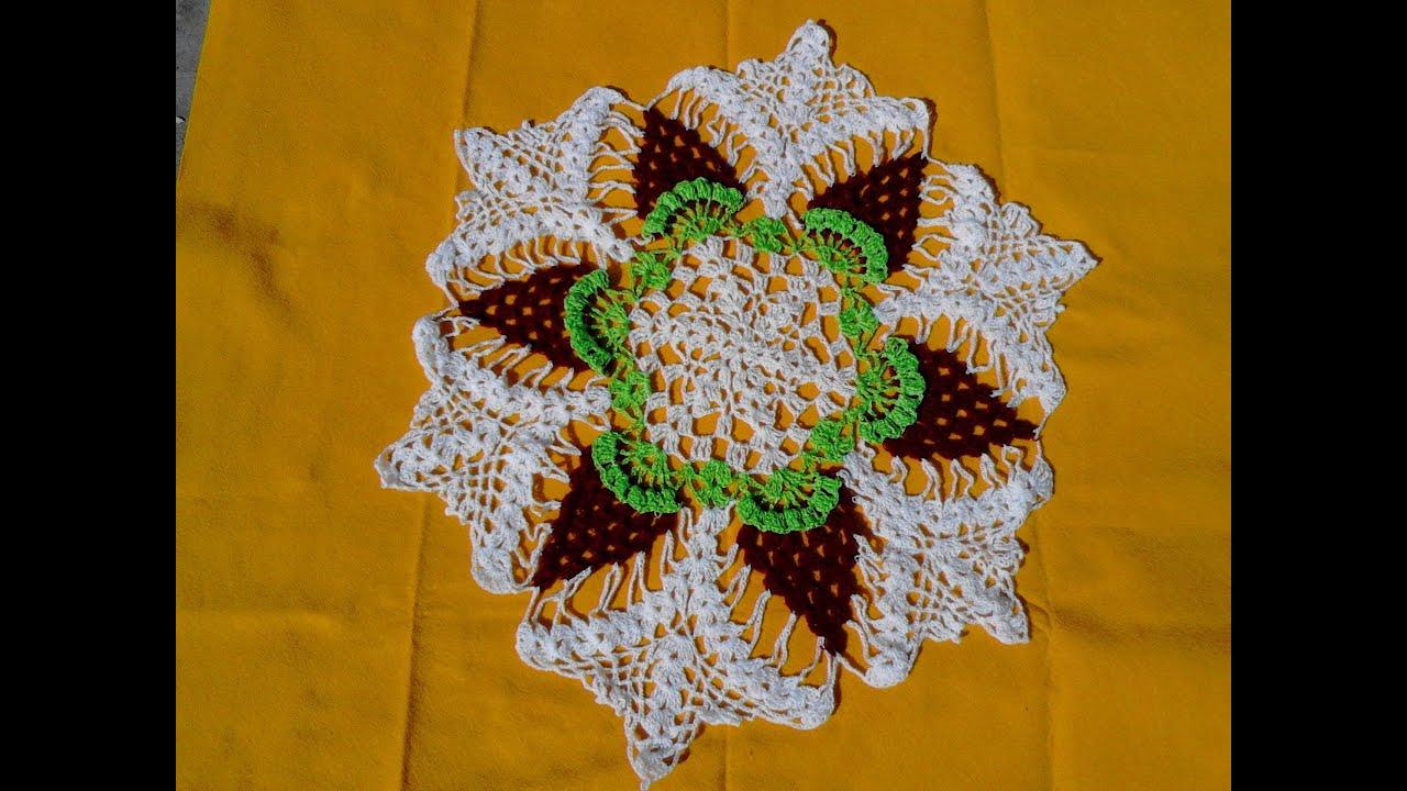 carpeta tejida con ganchillo 3 colores - YouTube