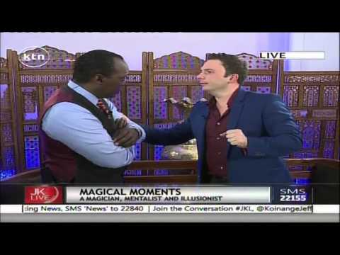 Jeff Koinange Live with  Larry Soffer - South African Mentalist/Magician part 3
