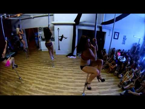 Altitude Pole Christmas Party 2013 Booty Shakin' Routine video
