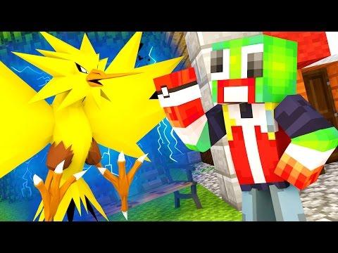 CATCHING ZAPDOS IN POKEMON GO! (MINECRAFT Pokemon Go)