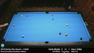Carlo Biado vs Marc Vidal - 9 Ball - 2019 Derby City Classic
