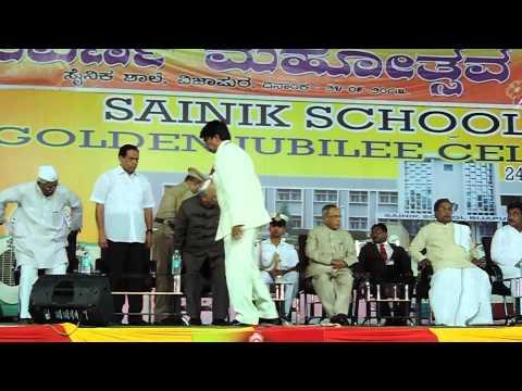 Sainik School Bijapur -GJ, Shri Hansraj Bhardwaj & Shri Siddaramaiah felicitated