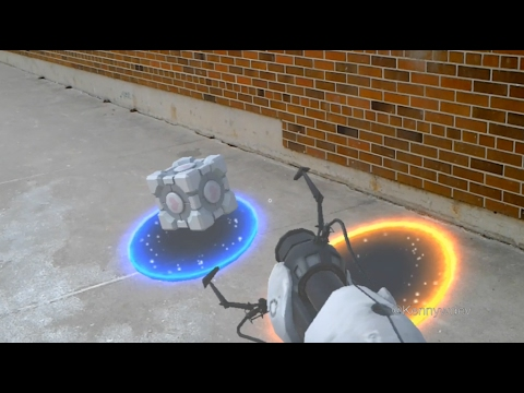 Portal in Augmented Reality with HoloLens