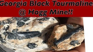 Georgia Black Tourmaline at the Hogg Mine! Great information all the way! (Mining America Ep30)