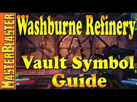 Washburne Refinery Cult of the Vault Symbol Guide Location - Borderlands 2