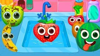 Game Masak Masakan Anak Kecil - Permainan Anak Laki-Laki & Perempuan - Mencuci Sayur Dan Buah