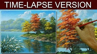 Time-Lapse Version | Autumn in the River | Acrylic Painting by JM lisondra