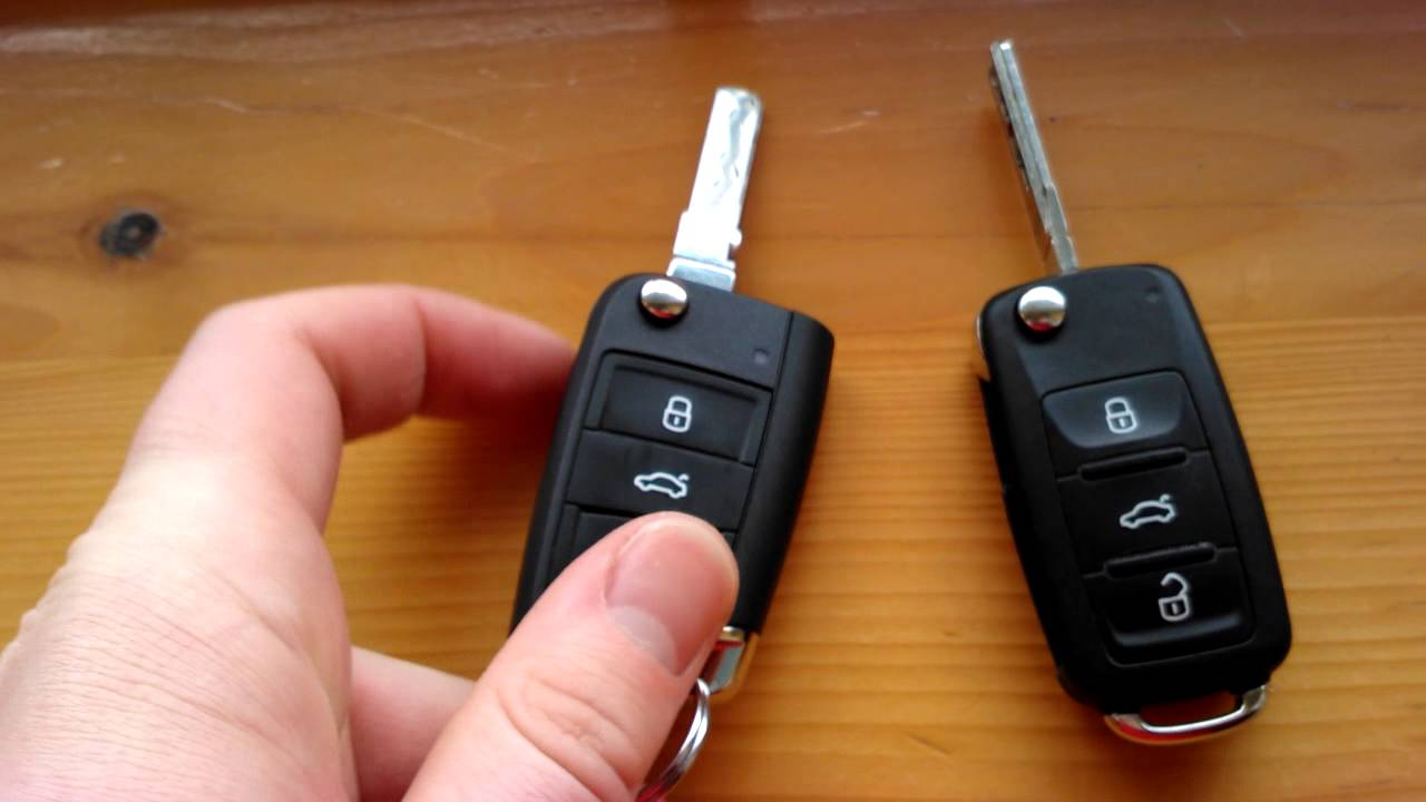 volkswgen golf vii vi 1 4 tsi key comparison remote key ignition key flip key youtube. Black Bedroom Furniture Sets. Home Design Ideas