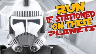 5 Most MISERABLE Planets Clone Troopers were Stationed on