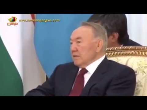 PM Modi meets Kazakh President Nursultan Nazarbayev | Central Asia Tour