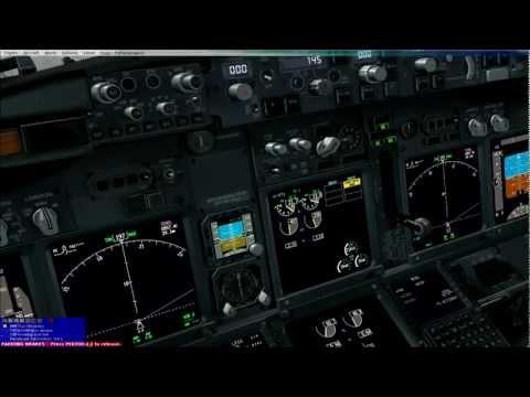[HD]Flight Simulator X,PMDG NGX Turkish Airlines Trabzon FMC Prgramming pushback and engine start