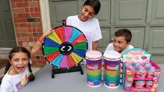 Spin Wheel to Win Orbeez Toys and chocolate - Kids Pretend Play