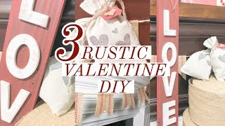 EASY VALENTINE'S CRAFTS   RUSTIC HOME DECOR   EASY VALENTINE DIY