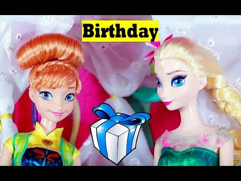 Frozen Fever Anna's Birthday Party Play Doh Cake  Elsa Olaf Kristoff Hans Barbie Parody Toy Video