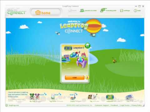 Downloading games to the LeapFrog Leapster2 gaming system