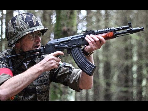 Airsoft War MP41, M4, M16, M14 POW Scotland HD