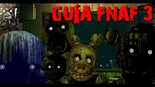 Guía: Como evitar todos los Animatrónicos Five Nights At Freddy´s 3