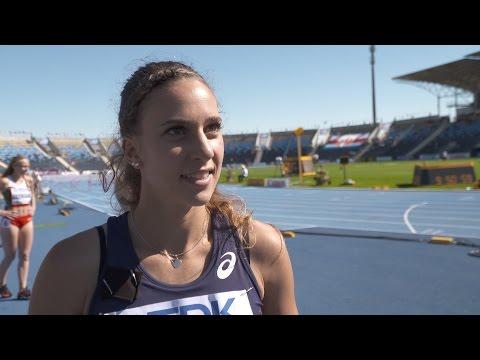 WU20 2016 Bydgoszcz 100m Hurdles Women Heat Laura VALETTE FRA
