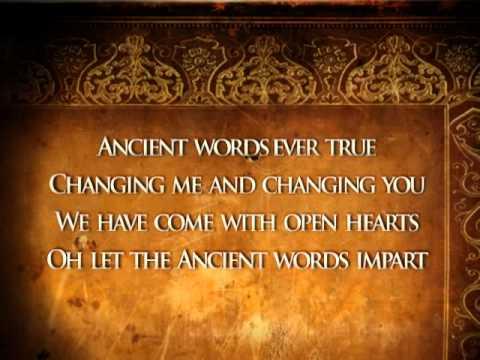 Ancient Words (lyrics)
