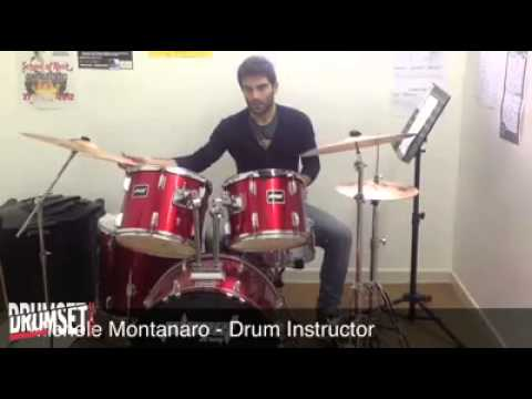 Michele Montanaro, Single Stroke Four, drum lesson