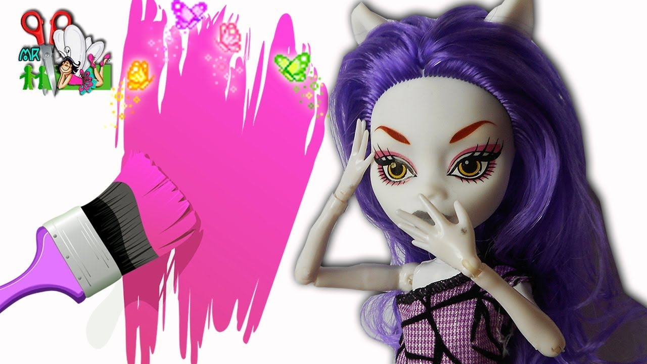 Как сделать куклу монстр хай из кукол 142