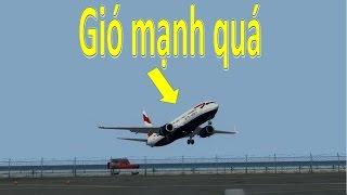 Máy bay hạ cánh trong gió mạnh _Crosswind landing