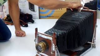 Antique wooden camera 1915 shot w Fujifilm X10 @ 30fps