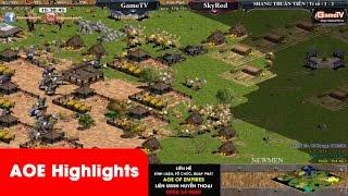 AOE Highlights - Kinh điển một trận đánh đời 4 quá hay của Chim Sẻ Đi Nắng