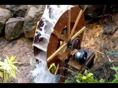 how to build a wooden water generator