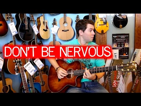 Don't Be Nervous To Play In A Guitar Store