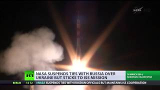(NASA) suspends ties with Russia over Ukraine, sticks to ISS  4/3/14