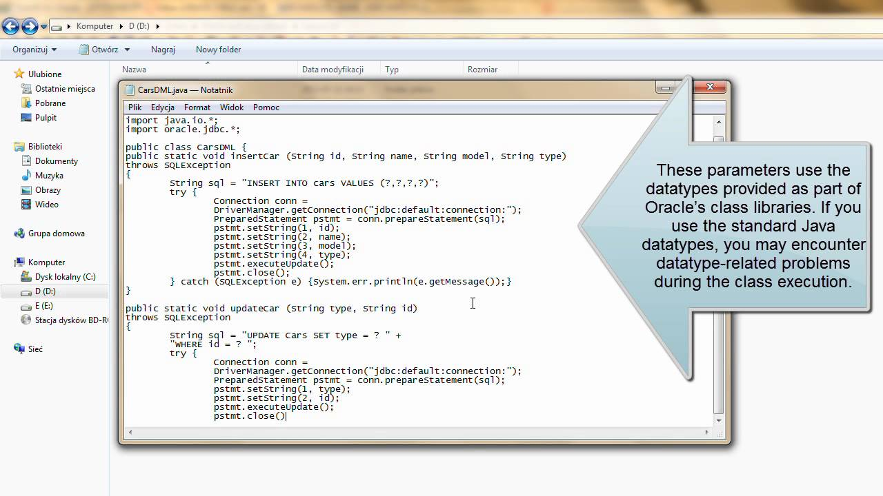 oracle and java tutorial java stored procedure youtube