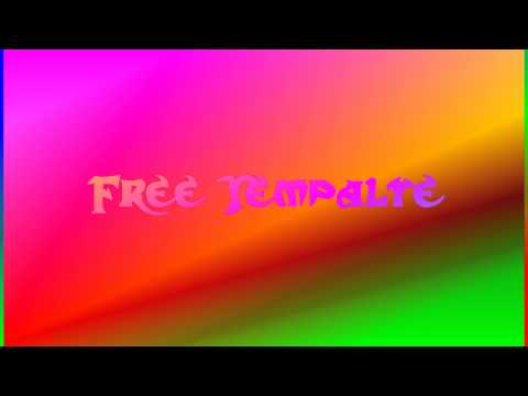 Sony Vegas 9.0 Free Template