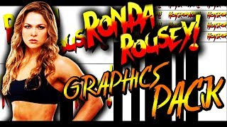 WWE Ronda Rousey Graphics Pack 2018 [DOWNLOAD LINK]